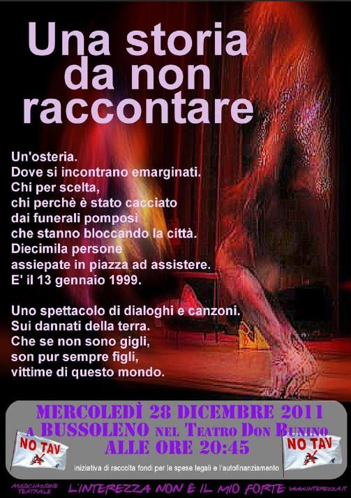 """28-12-2011 BUSSOLENO NO TAV SPETTACOLO TEATRALE """"UNA STORIA DA NON RACCONTARE"""""""