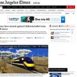 No tav: la California dice no al treno super veloce