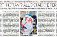 Succede a Genova: sei notav e non entri allo stadio per la maglietta