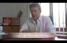 SINDACI NO TAV VALSUSA A LIONE 3 DICEMBRE (VIDEO INTERVISTA A SANDRO PLANO)