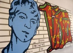 il murales dedicato a Vito dagli studenti romani