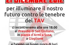 21/12 NOTTE DI LUCI per illuminare il nostro futuro contro le tenebre del Tav