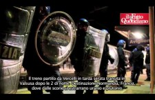 """Nucleare, gli attivisti d NoNuke ad Avigliana: """"Basta ai treni carichi di scorie"""" (video)"""