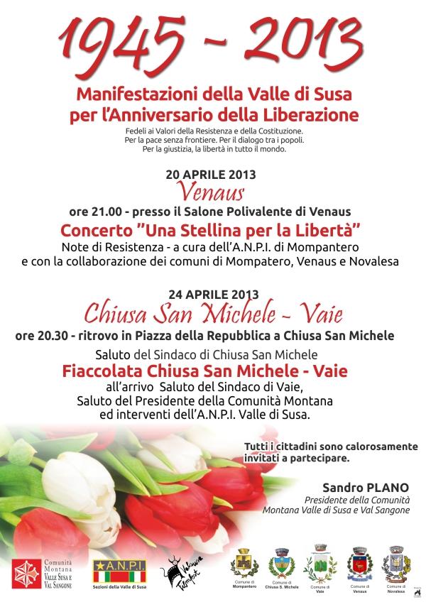 25 aprile in Valle di Susa