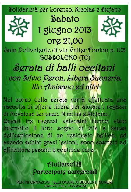 GRAN BALLO OCCITANO per Lorenzo, Nicolas e Stefano