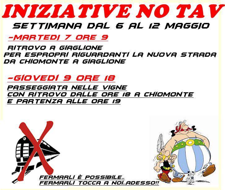 INIZIATIVE NO TAV 6-12 MAGGIO
