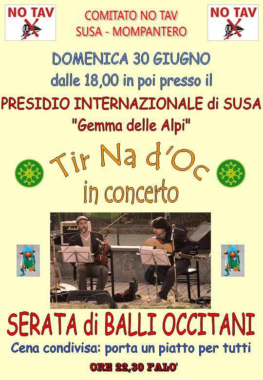 30/6 Balli occitani al presidio di Susa