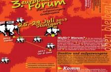 ISCRIZIONI APERTE AL 3° Forum Europeo Contro le Grandi Opere Inutili e Imposte – Stoccarda 25-29, luglio 2013