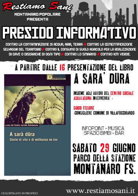 29/6 Montanaro: presentazione di A Sarà Dura