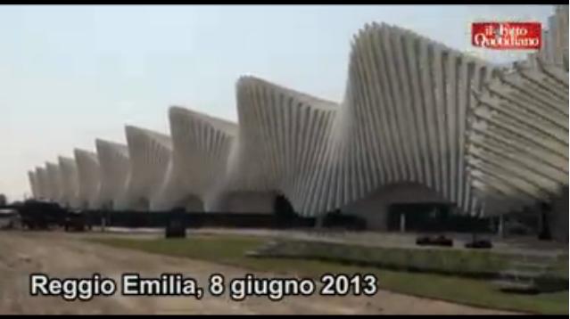 Prodi e Bersani all'inaugurazione della stazione Tav Mediopadana di Reggio Emilia