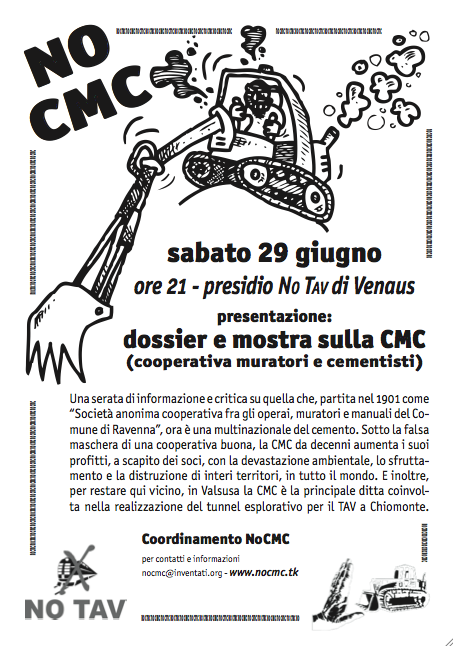 29/6 h.21 VENAUS: presentazione: dossier e mostra sulla CMC