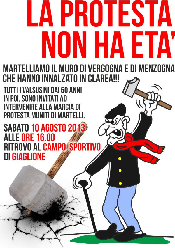La protesta non ha età, domani sabato 10 agosto tutti in Clarea!
