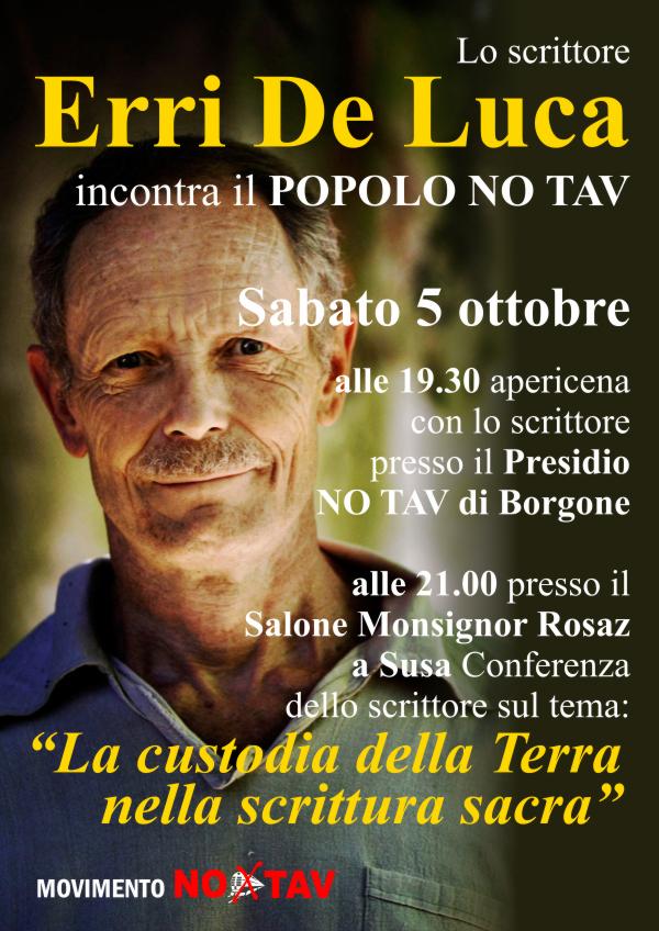 5 Ottobre: Erri de Luca in Valsusa