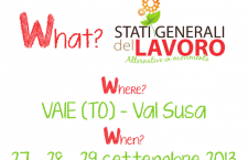 27/29 settembre: Stati Generali del Lavoro – Alternative in movimento