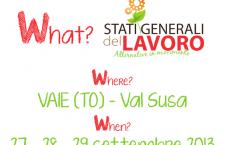 27/29 settembre: Stati Generali del Lavoro – Alternative in movimento