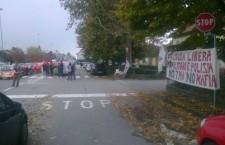 Rivoli presidio in corso contro la militarizzazione
