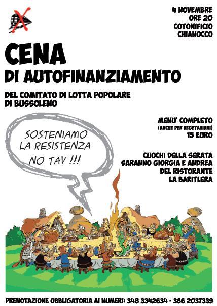 Lunedì 4/11 Sosteniamo la resistenza!! Cena di autofinanziamento del Comitato di Lotta Popolare!!
