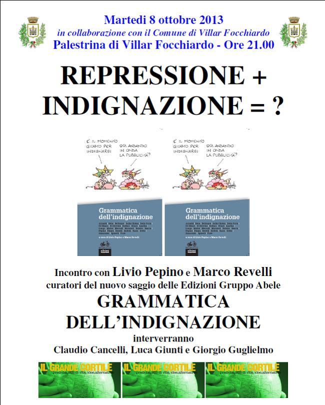 """8/10 """" Repressione + Indignazione = ?"""" con Livio Pepino e Marco Revelli"""