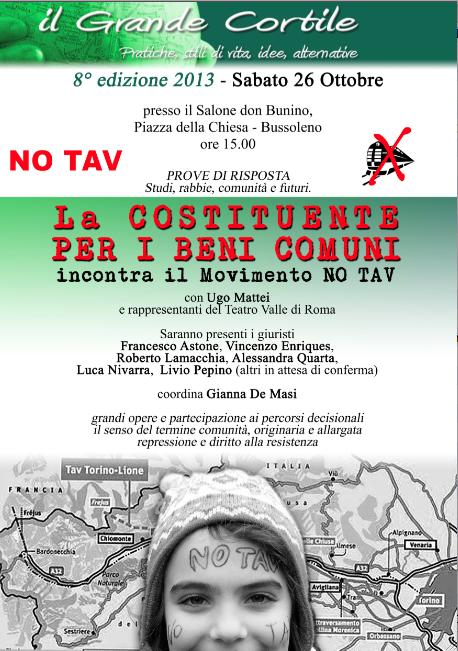 La Costituente dei Beni Comuni incontra il Movimento NO TAV