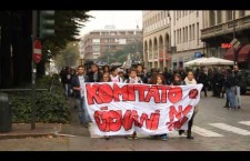 VIDEO: Corteo studentesco 4 ottobre, gli studenti no tav all'arrivo in piazza Statuto
