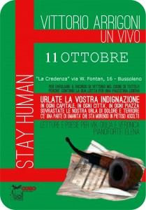 11 ottobre serata per Vittorio Arrigoni in Credenza