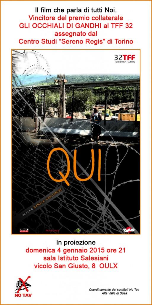"""Stasera, proiezione """"Qui"""" a Oulx"""