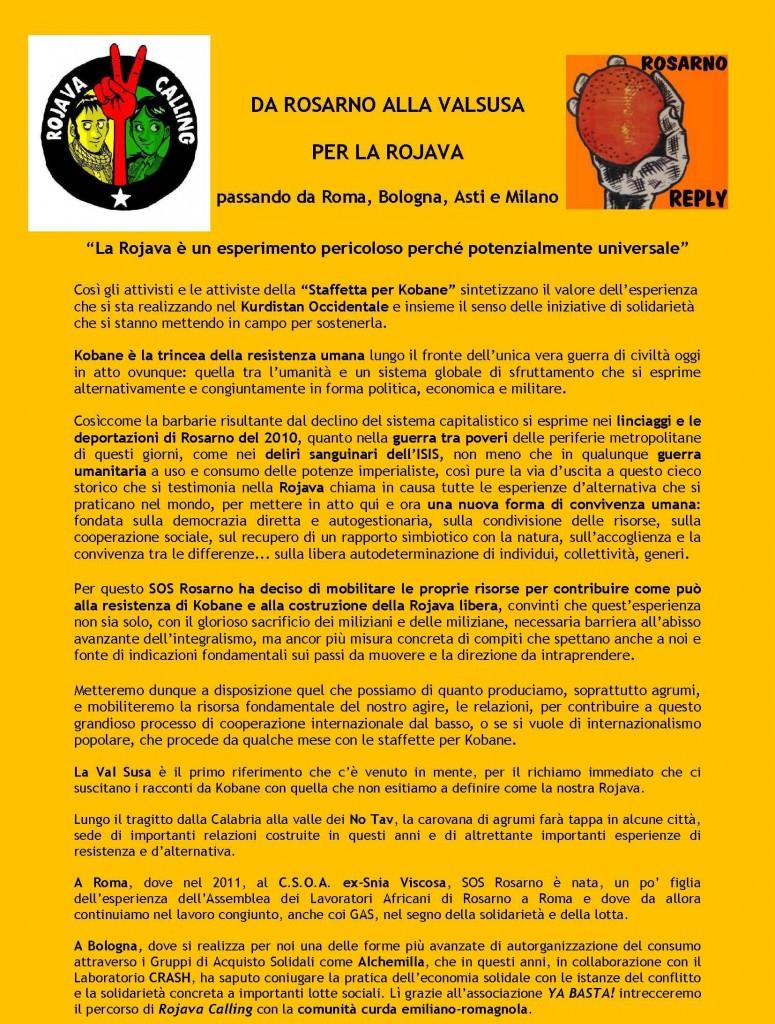 Arance di Rosarno per la Rojava a Bussoleno