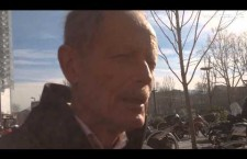 Intervista a Erri De Luca all'uscita del Tribunale di Torino