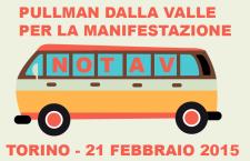 Pullman dalla Valle per la manifestazione di Torino 21 Febbraio