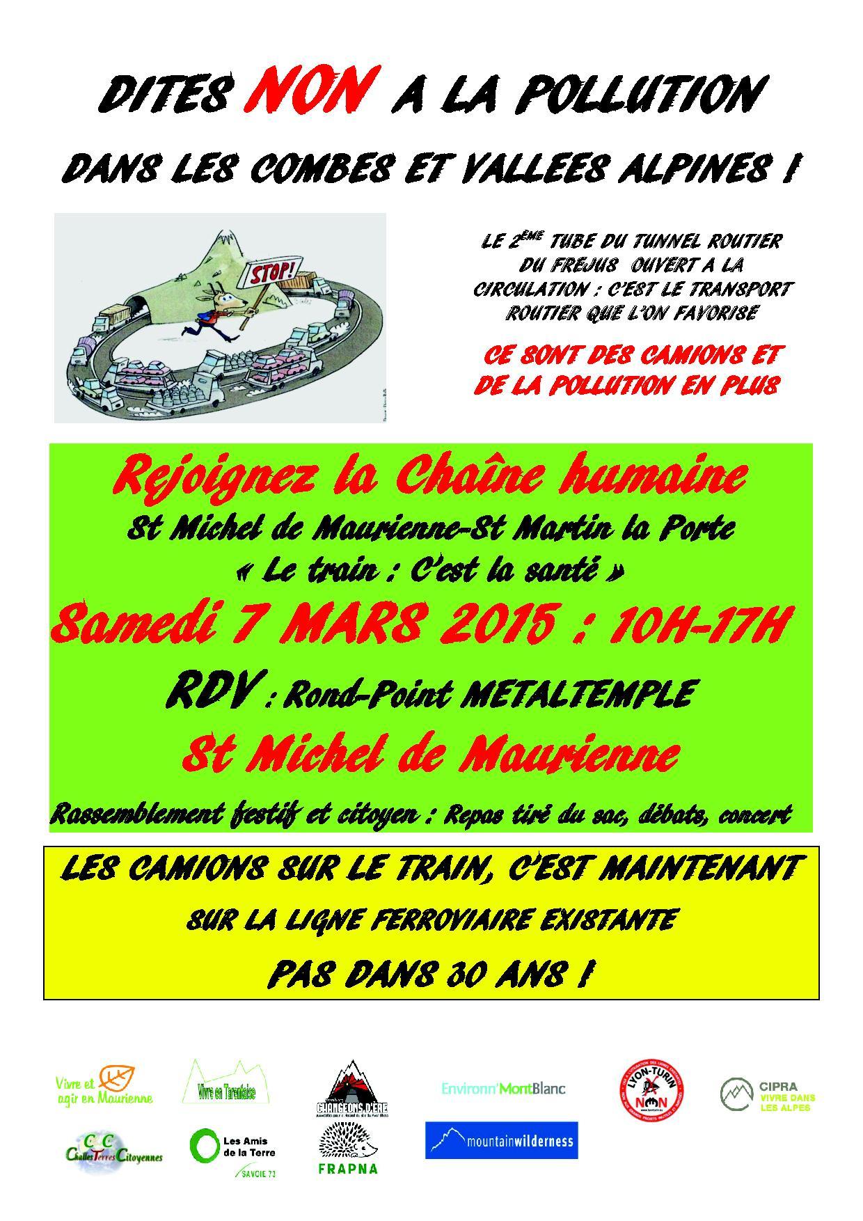 7 marzo 15 FLAYER chaine humaine