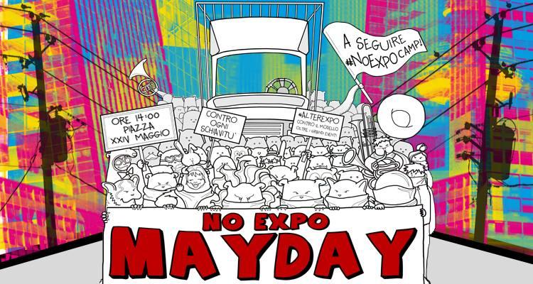 Pulman dalla Valle per la manifestazione No Expo