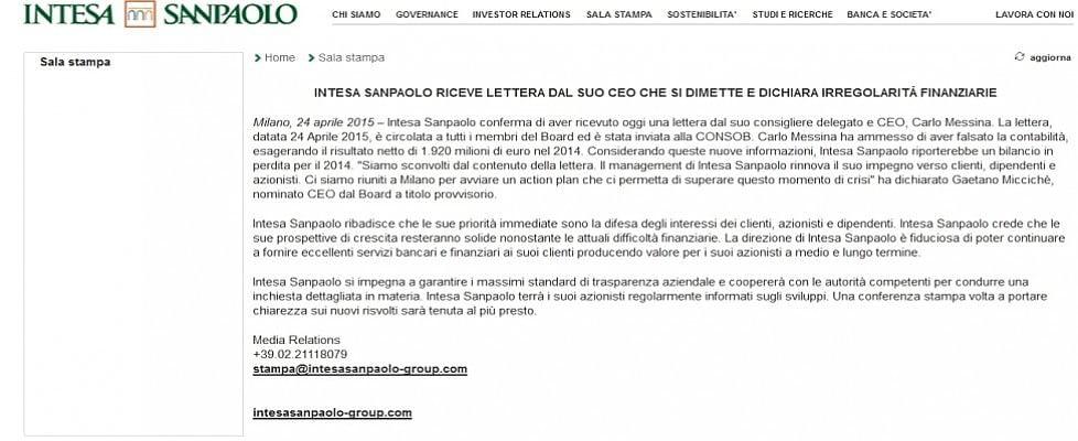 Le false dimissioni di Messina, mezz'ora di panico per Intesa San Paolo!