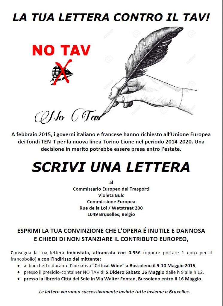 Scrivi la tua lettera per fermare il tav!