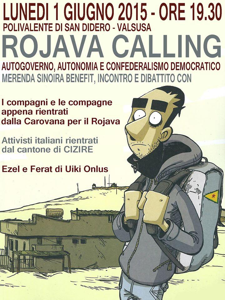 ROJAVA CALLING 01.06.2015 San Didero (Valsusa)