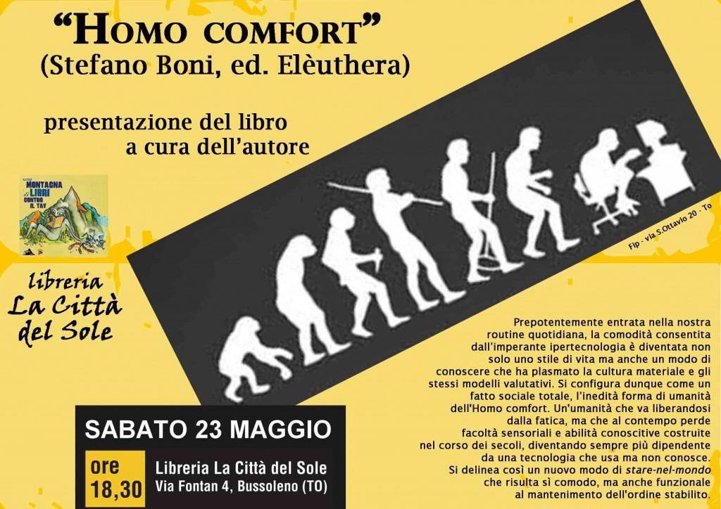 """24/5 Presentazioni del libro """"Homo Comfort"""""""