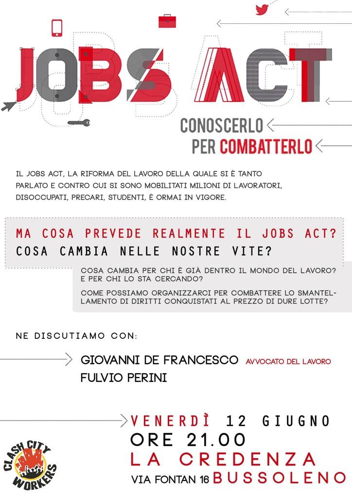 Venerdì alla Credenza, JOBS ACT conoscerlo per combatterlo