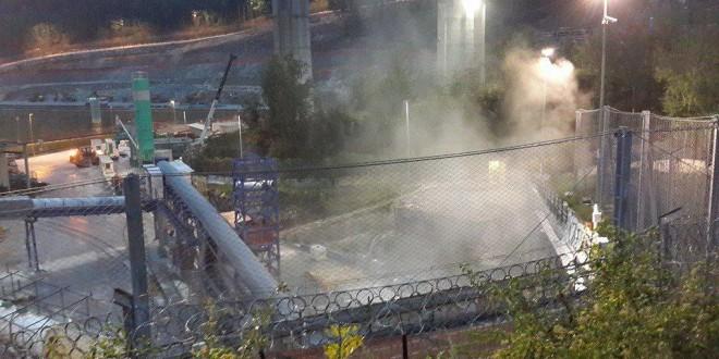 Polveri del cantiere Tav: Arpa bacchetta Telt