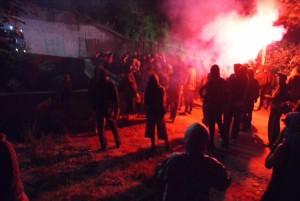 La gran marche dalla Francia al cantiere di Chiomonte, musica resistenza e gas lacrimogeni