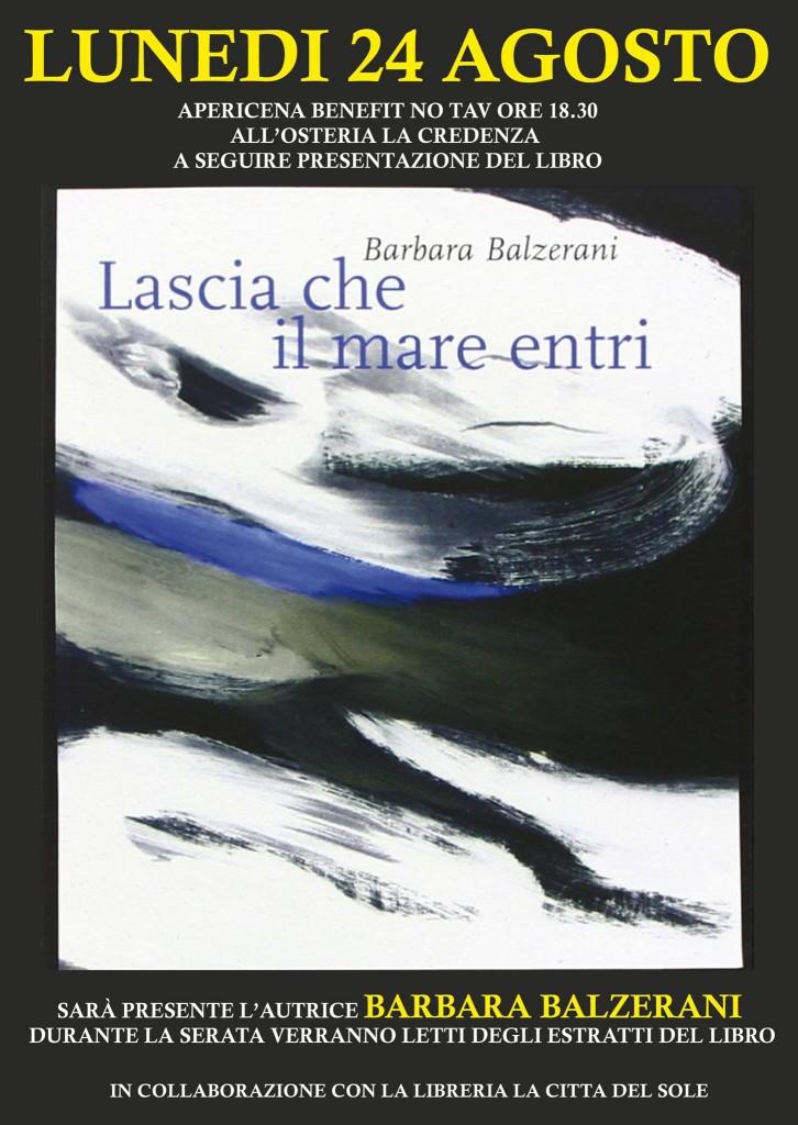 """Bussoleno, presentazione libro """"Lascia che il mare entri"""" di B. Balzerani"""
