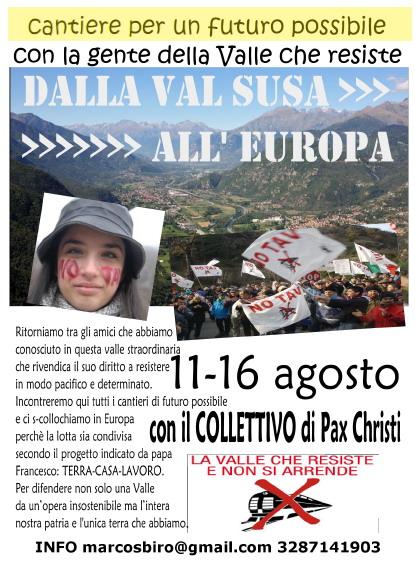 Campo di Pax Christi in Valsusa, da mart 11/08 a dom 16/08