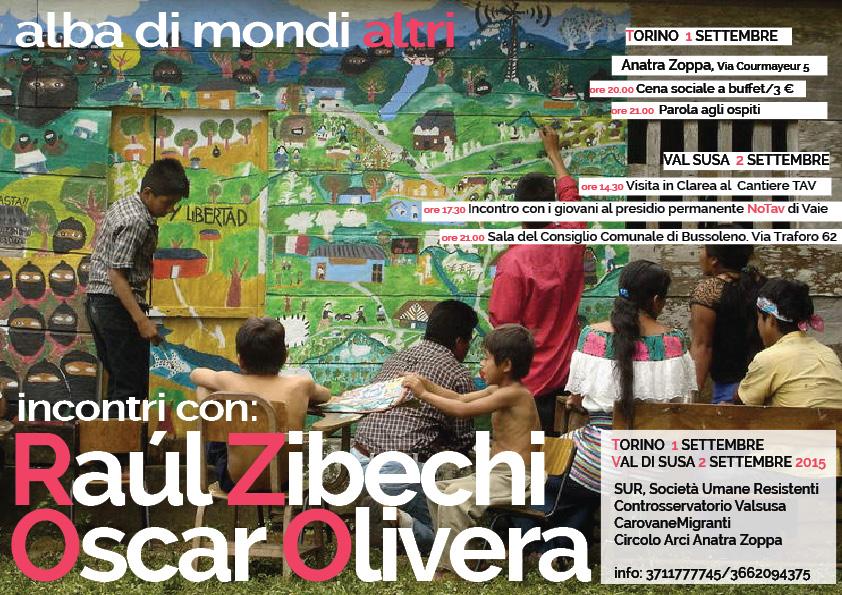 Raúl Zibechi e Oscar Olivera in Val di Susa merc 2/09