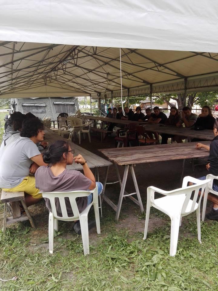 Primo giorno del campeggio nazionale studentesco No Tav
