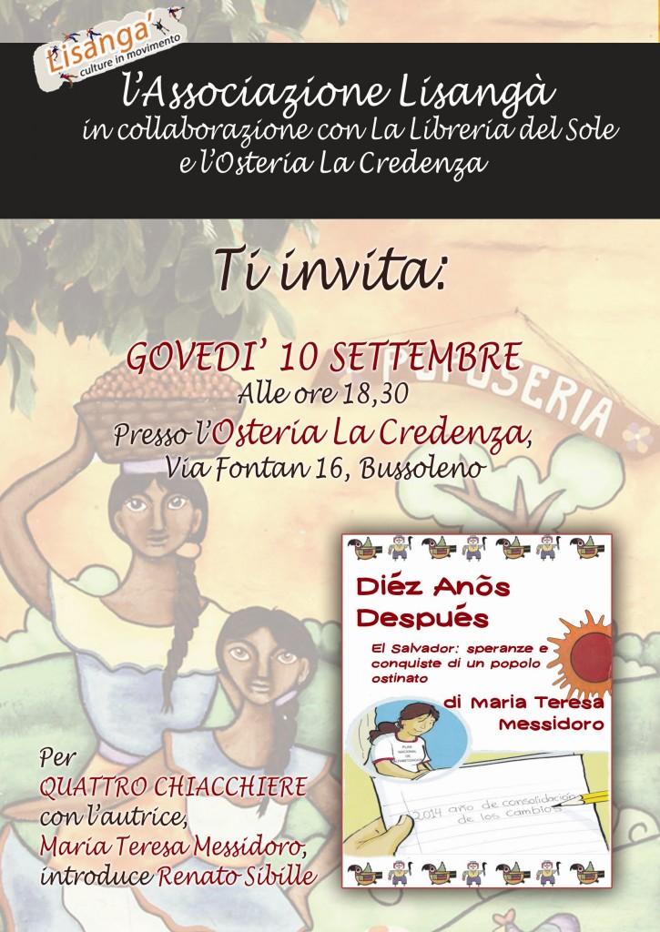 """Giov 10/09 alla Credenza, presentazione """"Dièz Anòs Despuès"""""""