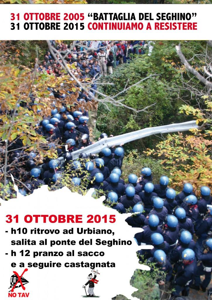 31 ottobre 2005/2015, dal Seghino continuiamo a Resistere!