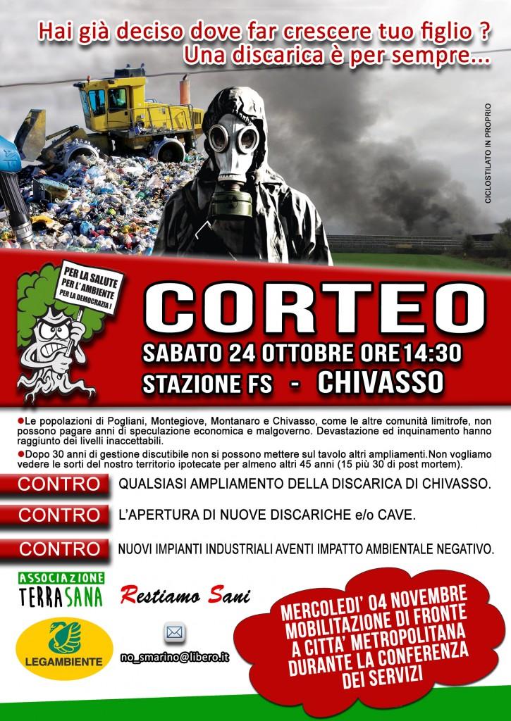 Chivasso (To), sabato 24/10 corteo contro la discarica