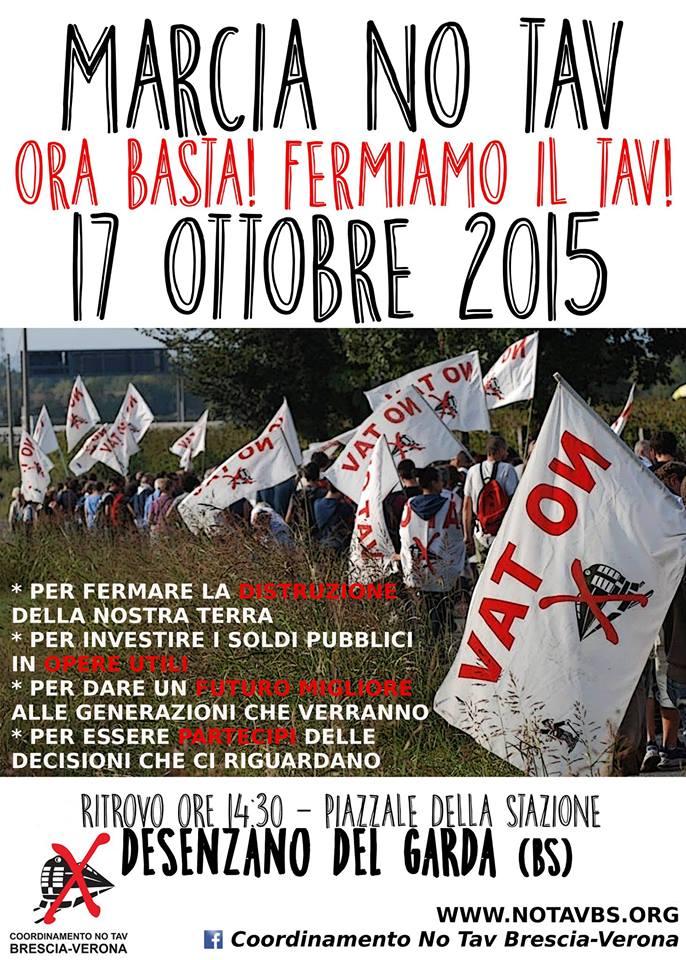 Sabato 17/10 marcia No Tav a Desenzano del Garda