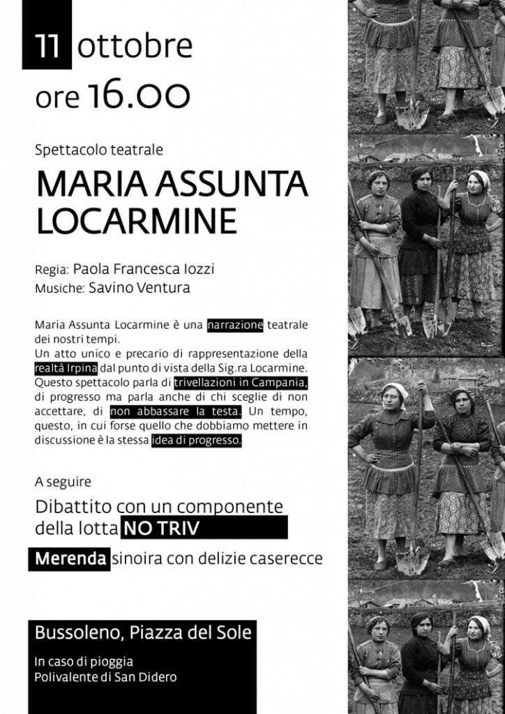 11/10 Bussoleno: Spettacolo Teatrale No Triv