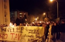 Trento – Oltre trecentocinquanta persone alla fiaccolata No Tav a Mattarello