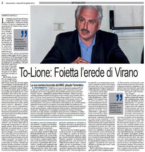 Ven 29/01, i comuni valutano l'operato e la credibilità di Foietta