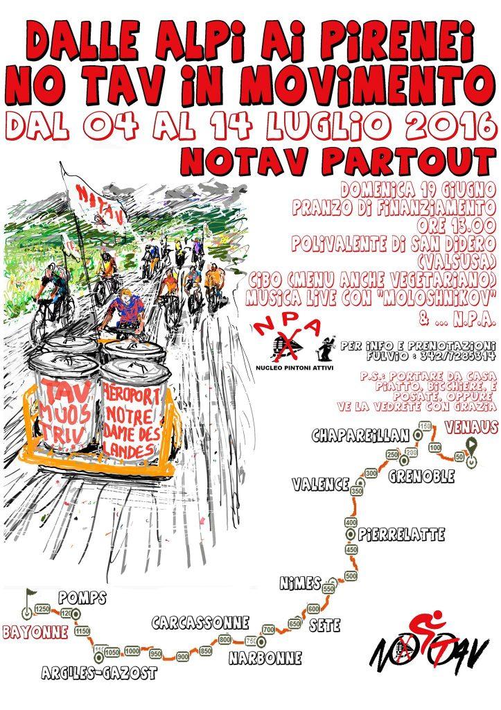 Domenica 19/06 a S. Didero pranzo di finanziamento per la biciclettata No Tav.